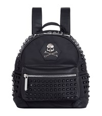 Philipp Plein Skull Studded Backpack Unisex Black
