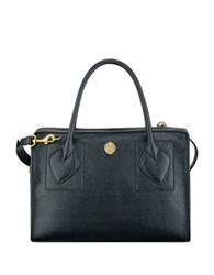 Anne Klein Bey Medium Faux Leather Satchel Black