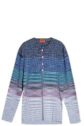 Missoni Abstract Henley T Shirt Blue
