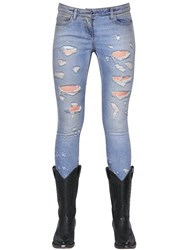 Faith Connexion Destroyed Skinny Cotton Denim Jeans