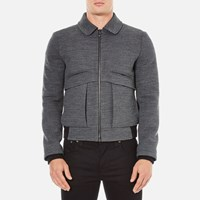 Carven Men's Zipped Blouson Jacket Gris Grenat