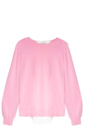 Clu Silk Back Sweater Pink
