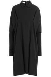Nobi Talai Wool Cape Dress With Collar Black