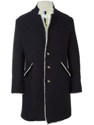 Soulland 'Bart' Woolen Coat Blue