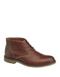 Johnston And Murphy Copeland Leather Chukka Boots Brown