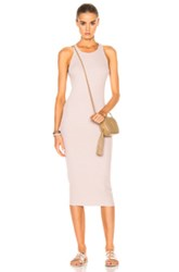 Enza Costa Rib Sheath Tank Midi Dress In Pink Neutrals Pink Neutrals