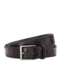 Canali Crocodile Classic Belt Unisex Black