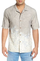 Tommy Bahama Men's 'Palm Of Duty' Original Fit Print Silk Camp Shirt