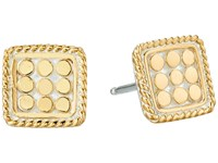 Anna Beck Square Cushion Post Earrings Sterling Silver Gold Vermeil Earring