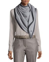 Loro Piana Dressing Demicarre Duo Shawl Slate Taupe