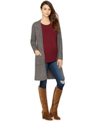 A Pea In The Pod Maternity Open Front Cardigan Heather Grey