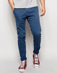 Abercrombie And Fitch Skinny Stretch Chino In Dark Denim Dark Denim Blue