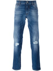 Dolce And Gabbana Distressed Jeans Blue