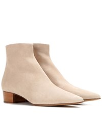 The Row Ambra Suede Boots Beige