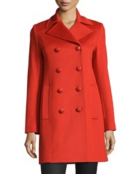 Fleurette Double Breasted Wool Peacoat Women's