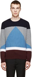 Valentino Multicolor Colorblock Cashmere Sweater