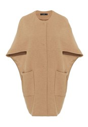 Hallhuber Egg Shaped Cape Jacket Beige