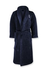 Ralph Lauren Home Langdon Bath Robe Midnight Blue