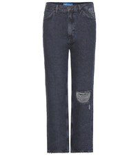 Mih Jeans Jeanne High Rise Distressed Blue