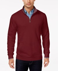 Club Room Men's Big And Tall Quarter Zip Sweater Only At Macy's Maraschino