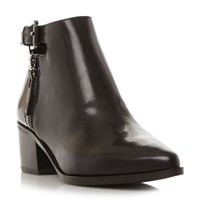 Geox Lia Cut Out Buckle Boots Black