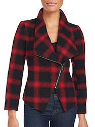 Saks Fifth Avenue Red Lilymay Plaid Jacket Black