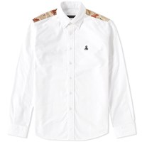 Sophnet. Camouflage Panel Oxford Shirt White