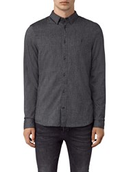 Allsaints Millard Slim Fit Long Sleeve Shirt Grey