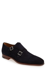 Magnanni 'Benitez' Double Monk Strap Shoe Men Navy