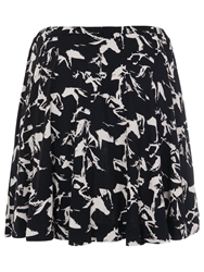 French Connection Hatched Horses Skater Skirt Black Daisy White