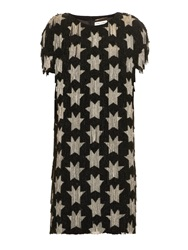 Saint Laurent Star Beaded Fringe Dress