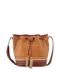 Isabella Fiore Hutton Drawstring Crossbody Bag Cognac