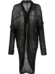 Isabel Benenato Curved Hem Cardigan Black