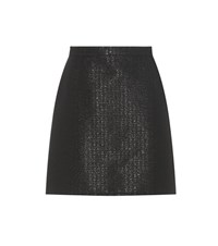 A.P.C. Ada Metallic Cotton Blend Miniskirt Black