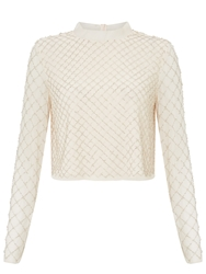 Needle And Thread Grid Mesh Top Dust Pink