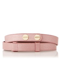 Lk Bennett L.K. Zahara Waist Belt With Pink Metallic