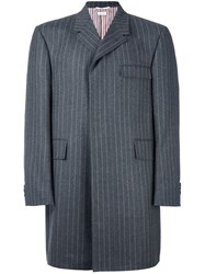 Thom Browne Long Pinstripe Jacket Grey