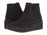 Eileen Fisher Chelsea Black Tumbled Nubuck Women's Pull On Boots
