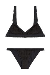 Missoni Mare Chevron Knit Bikini Black