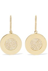 Jennifer Meyer 18 Karat Gold Diamond Circle Earrings