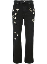 Alexander Mcqueen 'Obsession' Straight Leg Jeans Black