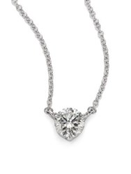Kwiat Diamond And Platinum Medium Solitaire Pendant Necklace