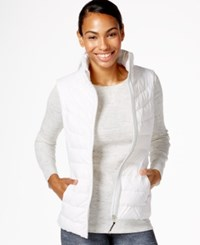 Betsey Johnson Puffer Vest White