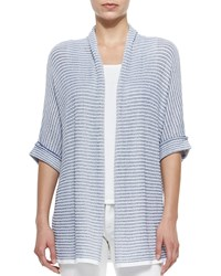 Belford Oversized Half Sleeve Open Cardigan Blue Sky