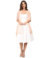 Betsey Johnson Cross My Heart Beaded Wrap Blush Women's Clothing Pink