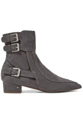 Laurence Dacade Gepetto Suede Ankle Boots Gray
