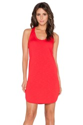 Lanston French Terry Scoop Racerback Mini Dress Red