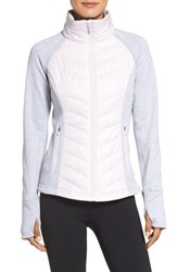 Zella Women's Zelfusion Reflective Quilted Jacket Pink Ice