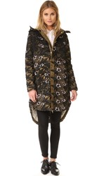 Self Portrait Lace Parka Multi