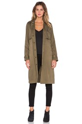 Current Elliott The Storm Flap Trench Coat Army